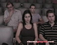Hot girl gets groped in movie theatre  XVIDEOSCOM
